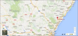 Plano ubicacion nave abierta Onda (Castellón)