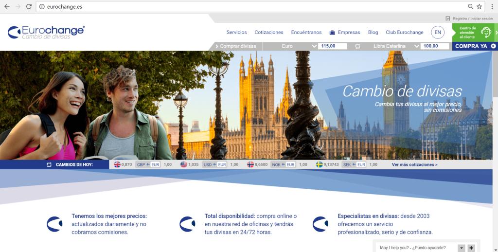 Nueva web eurochange.es