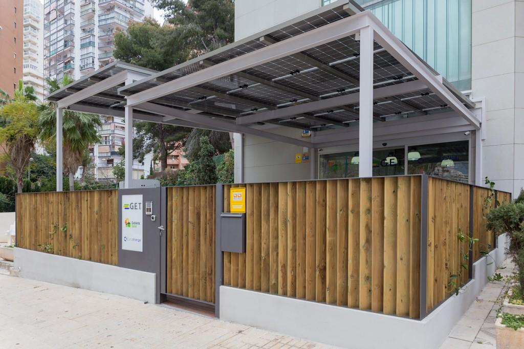 Oficina Sostenible GET con pérgola fotovoltaica