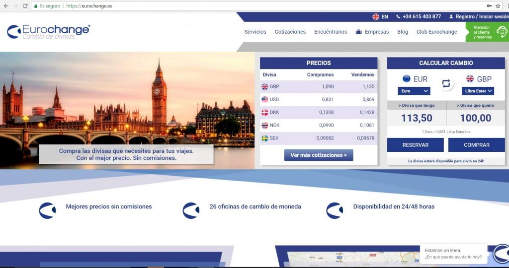web eurochange.es