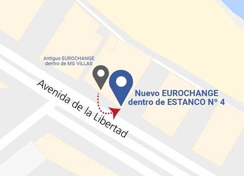 Localización Eurochange Jávea