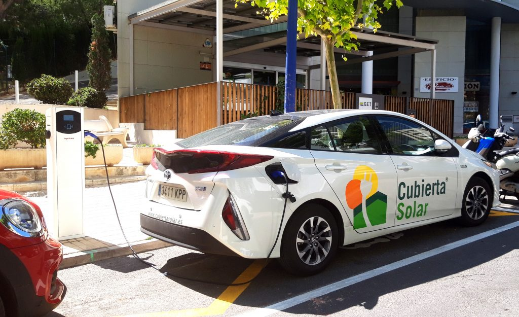 Punto de recarga vehículos eléctricos en GET